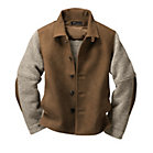 Men's Chamois Tanned Deer Leather and Boiled Wool Jacket