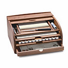 Walnut Rolltop Letter and Document Storage