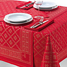 Swedish Red Table Linen