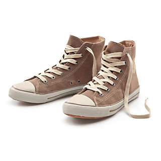 Ankle-high Rubber Sole Hemp Sneaker | Shoes