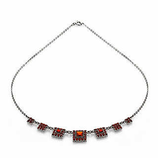 Czech Garnet Necklace  | Accessories