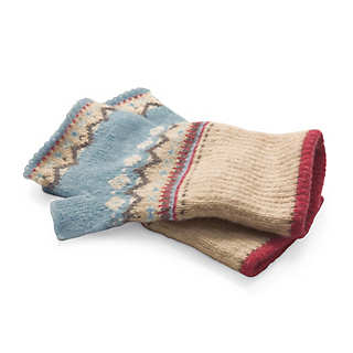 Eribé Fair Isle Hand Warmers  | Accessories