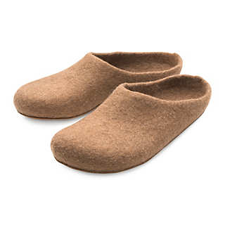 Gottstein Felt Slippers out of Camel Hair | Shoes