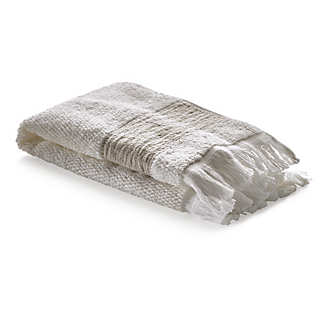 Guest Towel with Linen Border <br />2 Pieces   Towels