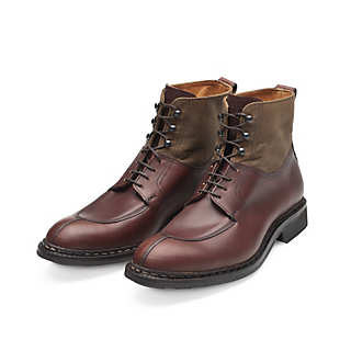 Men's Heschung High Cut Calf Leather and Cotton Shoe | Shoes