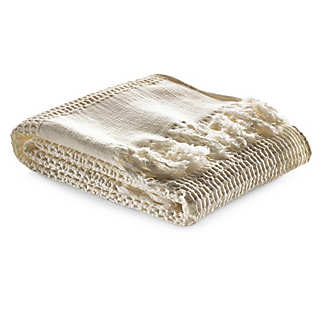 Piqué Weave Hand Towel with Border   Towels