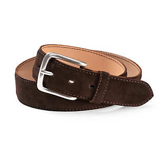 Saddle-stitch Suede Leather Belt from Kreis & Co.  | Accessories