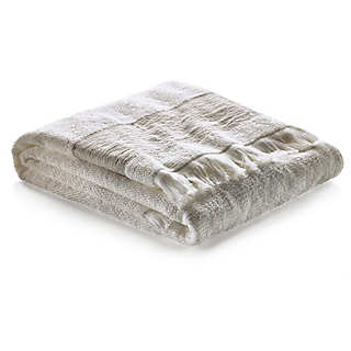 Shower Towel with Linen Border   Towels